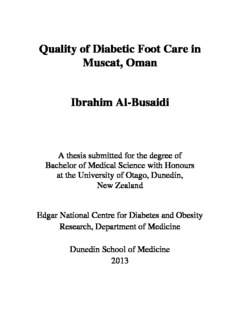 Quality Of Diabetic Foot Care In Oman