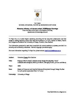 Kaupapa Māori [visual communication] design Investigating