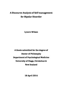 thesis on discourse analysis