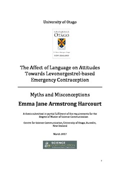 the affect of language on attitudes towards levonorgestrel based