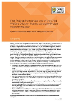 Research paper on child welfare