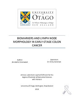 Biomarkers And Lymph Node Morphology In Early Stage Colon Cancer